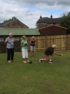 The final gets underway with Roger,Sue,Beryl and Adrian.