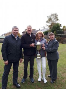 SPONSORS THE DIRECTORS OF AINSWORTHS FUNERAL SERVICES DARWEN PRESENT LYNN AND JOHN WITH THE PRESIDENTS DAY TROPHY 2018